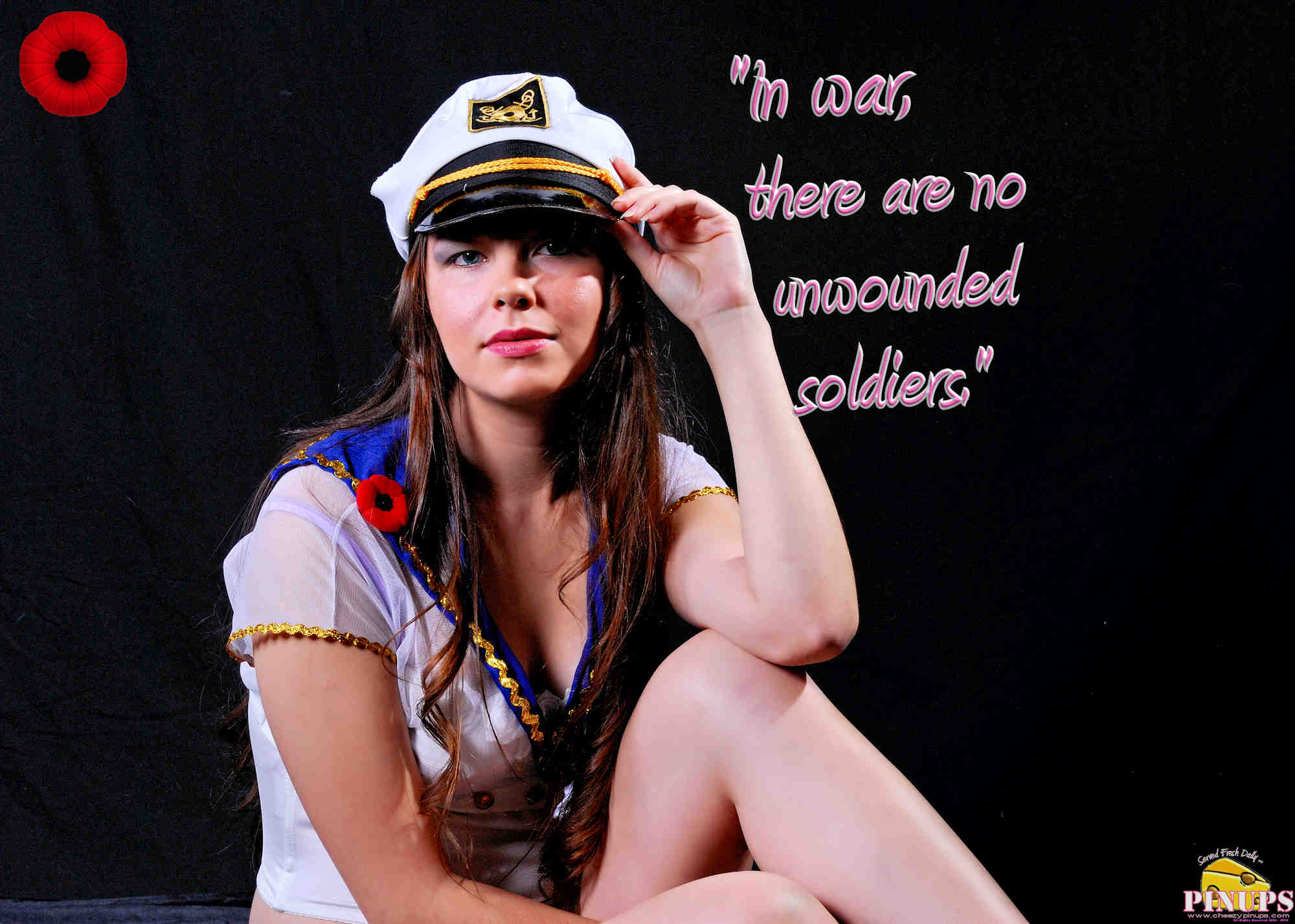 "Cheezy Pinup - November 6, 2018 ""In war, there are no unwounded soldiers."" - Jose Narosky Model: Sammie-Joe"