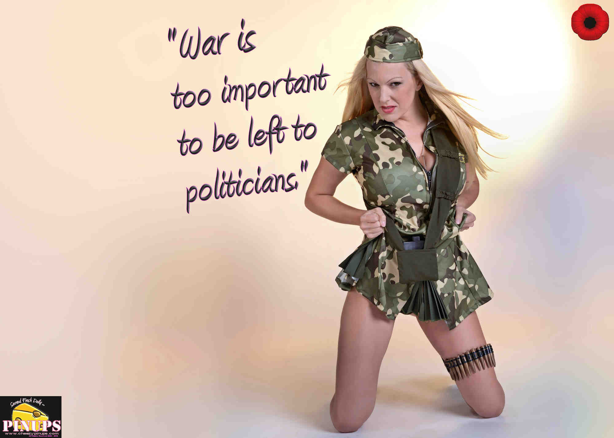"Cheezy Pinup - November 9, 2018   ""War is too important to be left to politicians."" - Gen. Jack D. Ripper Model: Jennifer"