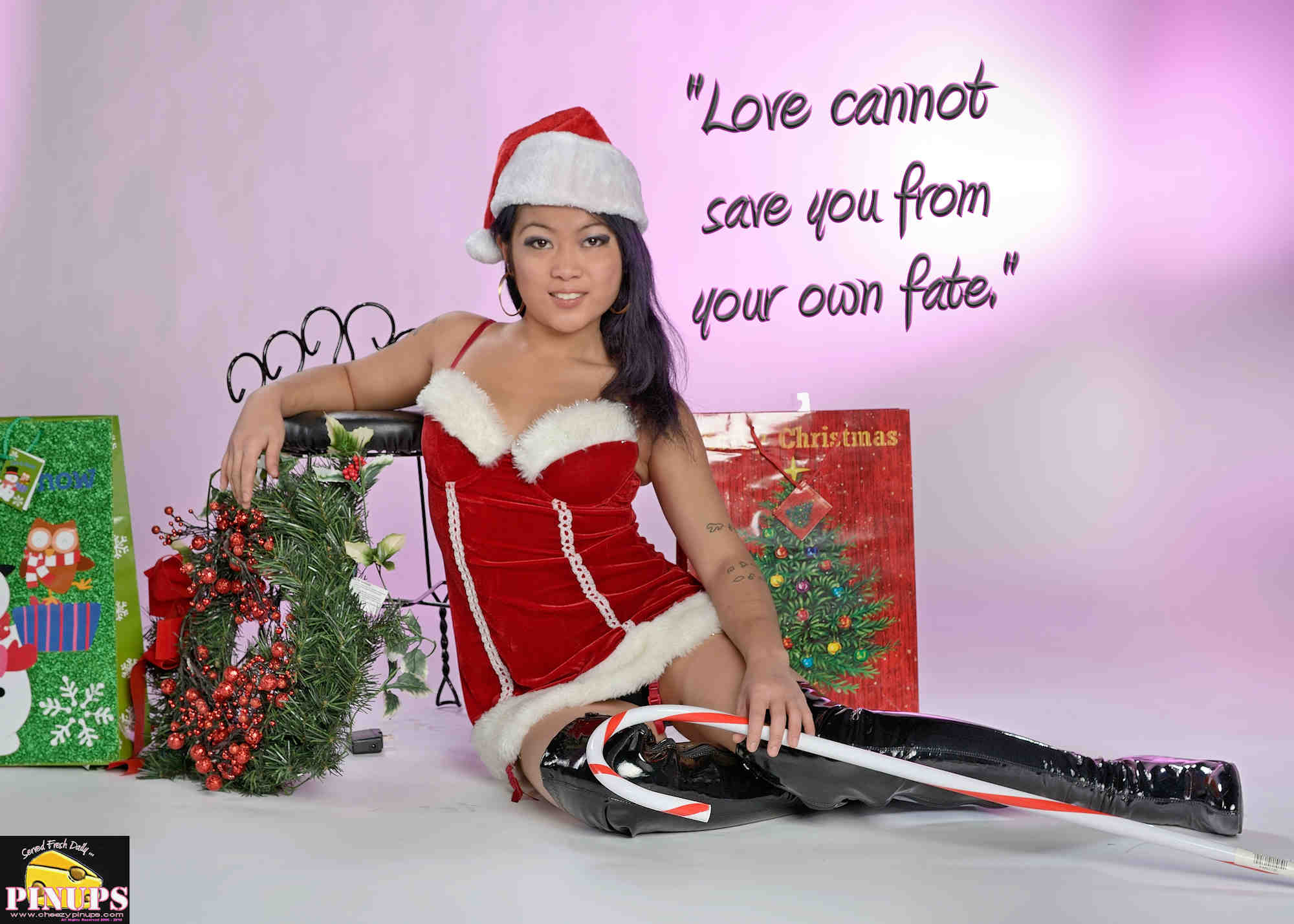 "Cheezy Pinup - December 8, 2018   ""Love cannot save you from your own fate."" - Jim Morrison Model: Carmen"