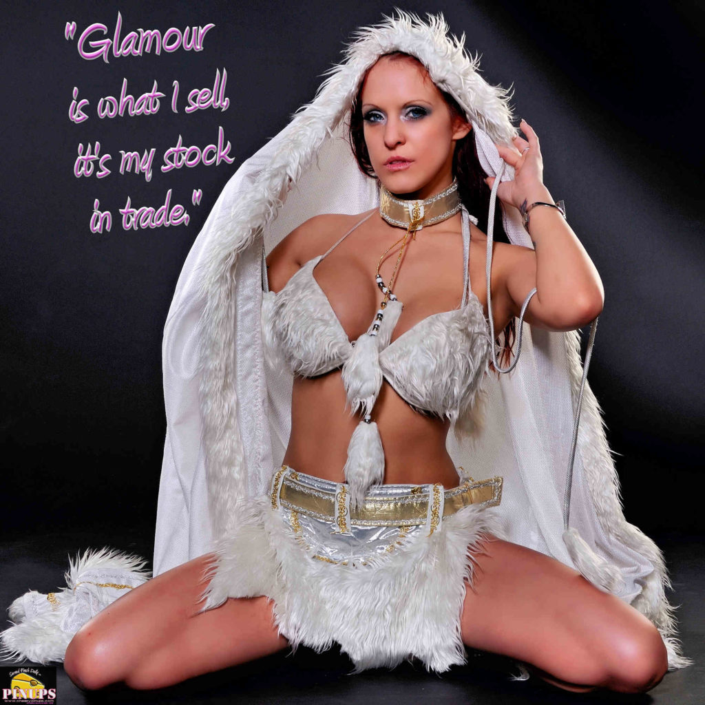 """Glamour is what I sell, it's my stock in trade."" - Marlene Dietrich Model: Brandy"