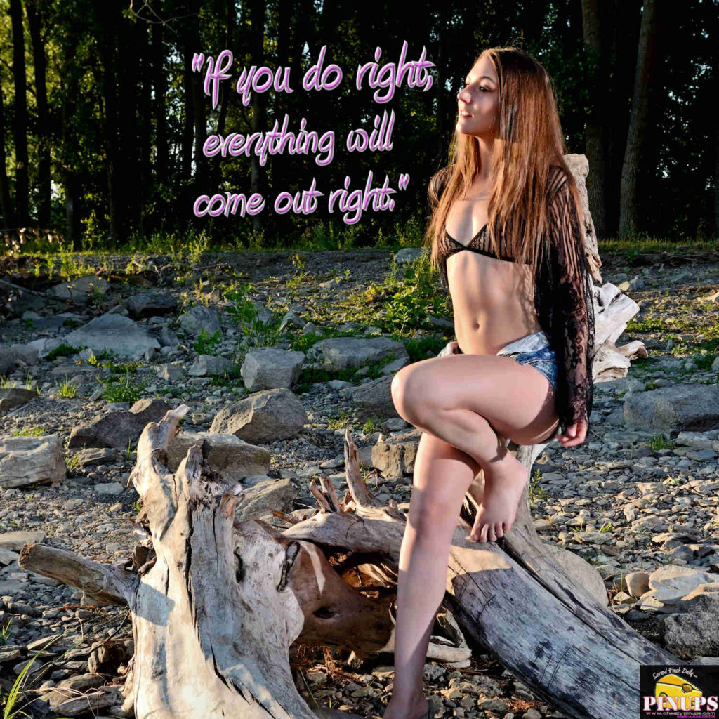"""""""If you do right, everything will come out right."""" - Wolfman Jack Model: Carole-Lynn"""