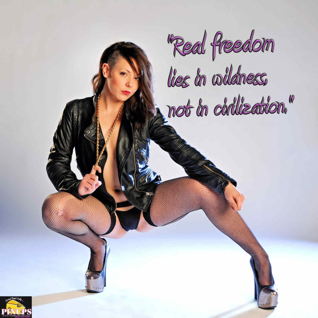 """""""Real freedom lies in wildness, not in civilization."""" - Charles Lindbergh Model: Alexandra"""