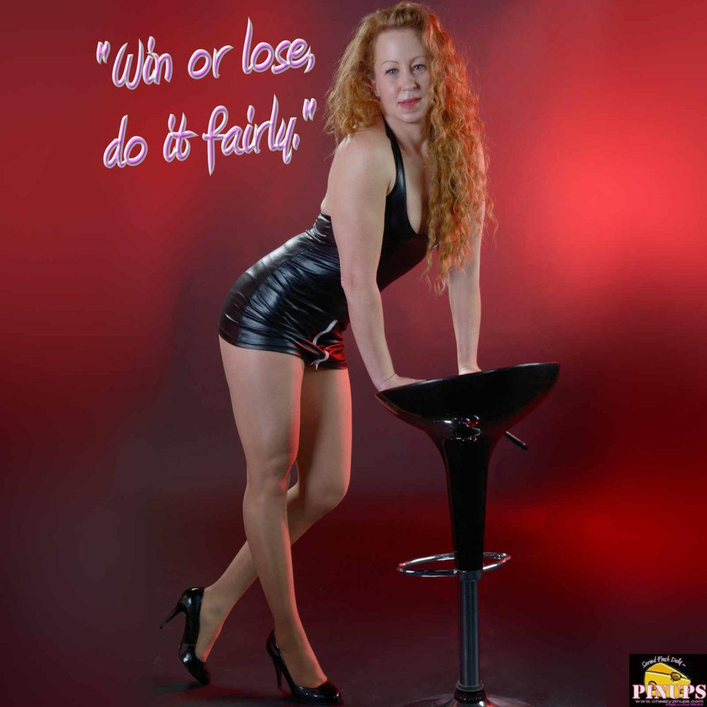 """Win or lose, do it fairly."" - Knute Rockne Model: Emily"