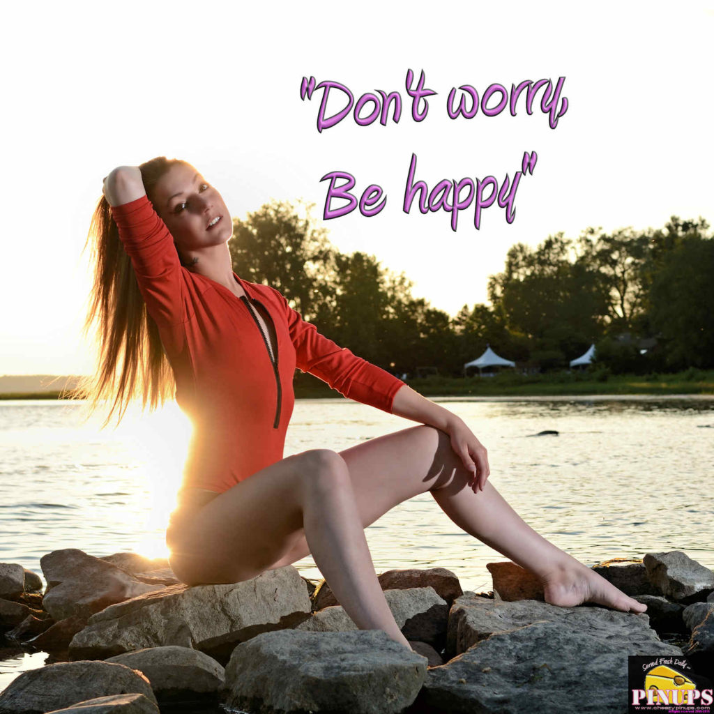 """Don't worry, Be happy."" - Bobby McFerrin Model: Carole-Lynn"