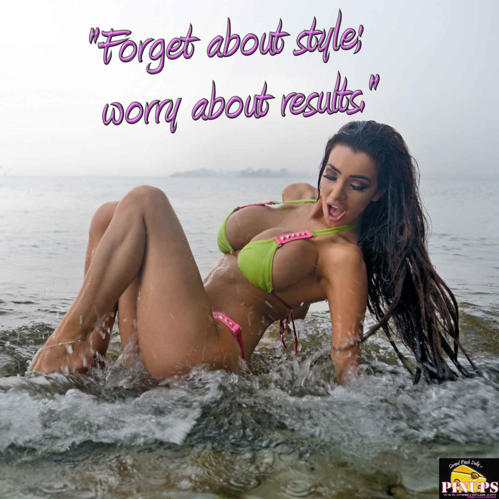 """Forget about style; worry about results."" - Bobby Orr Model: Khloe"