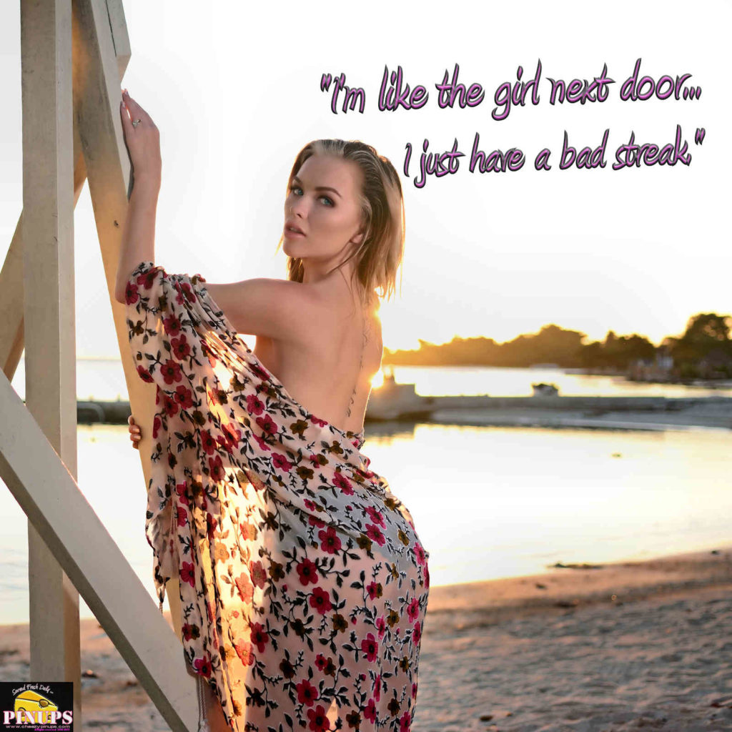 """I'm like the girl next door... I just have a bad streak."" - Jenna Jameson Model : Amanda"